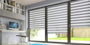 Eclipse Office blinds in a home office