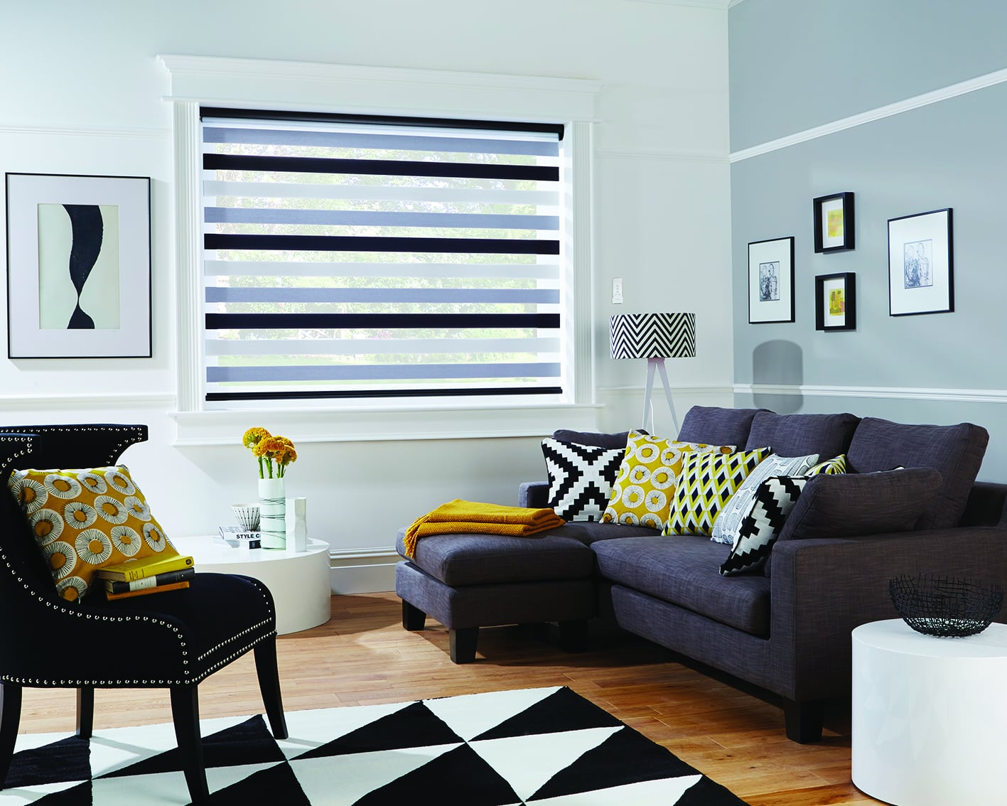 Vision blinds: in the living room
