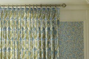 iLiv Art Deco curtain fabric collection - Cornflower