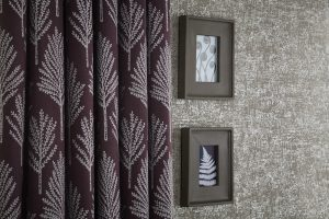 iLiv Matrix curtain fabric collection: Amethyst Slate