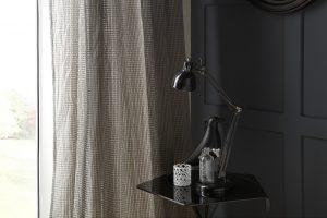 iLiv Matrix curtain fabric collection: Ebony Silver