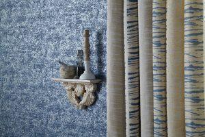 iLiv Matrix curtain fabric collection: Ocean Hessian