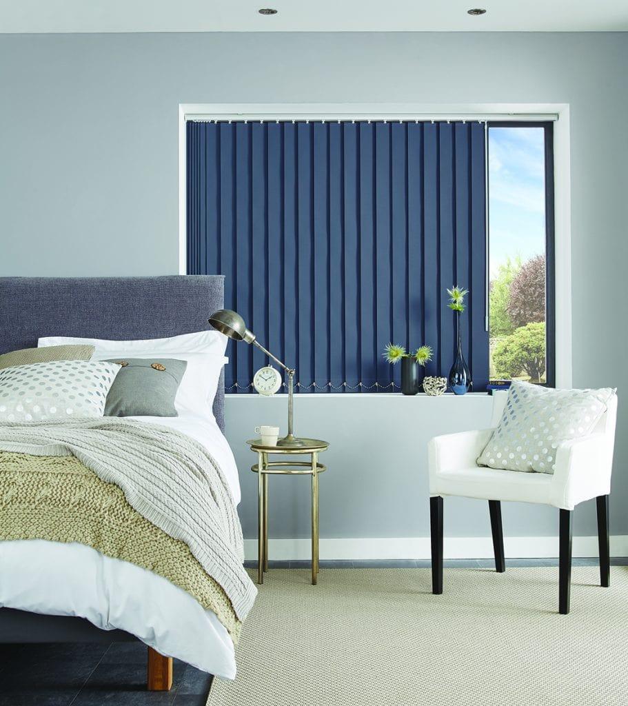 Vertical bedroom blinds