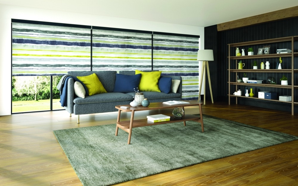 Roller blinds Como Ocra design
