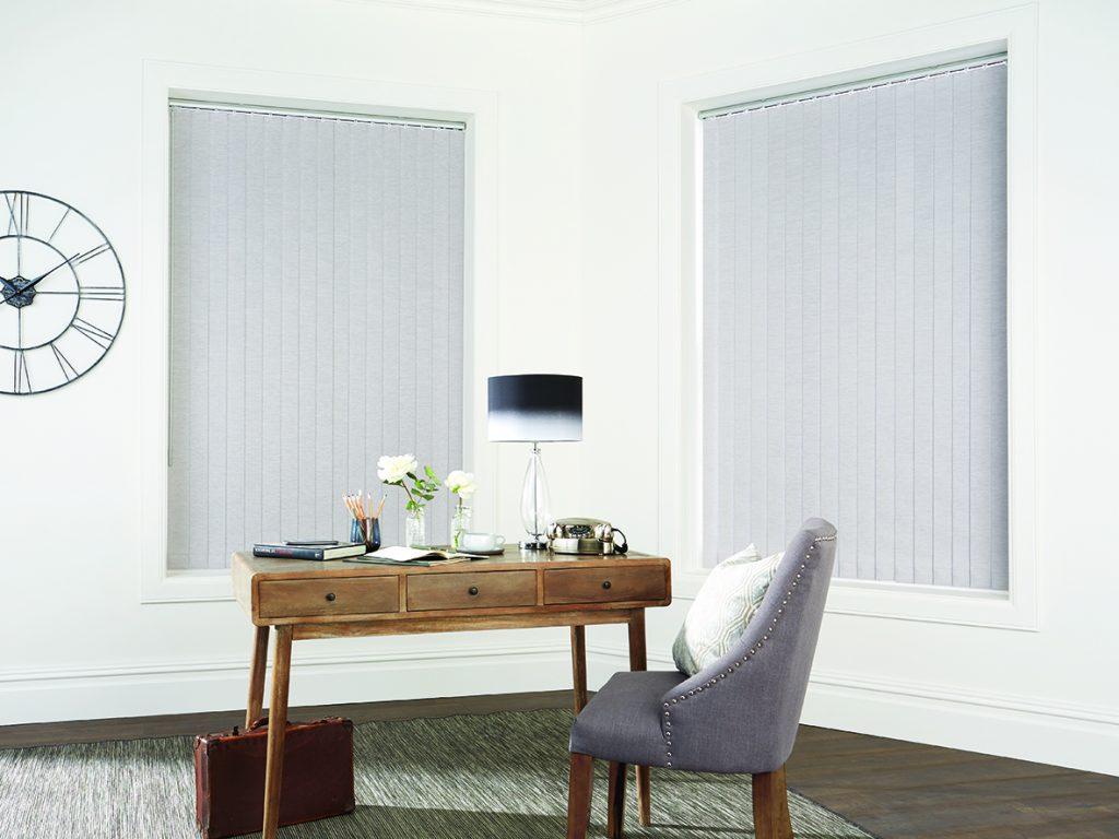 Chenille Silver fabric from Louvolite