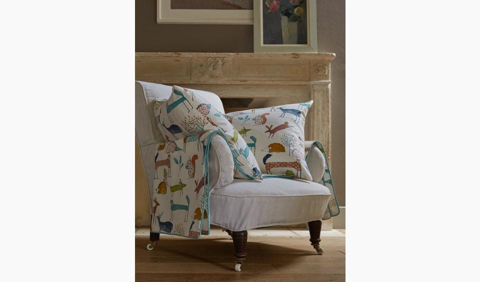Animal print fabric made into cushions.