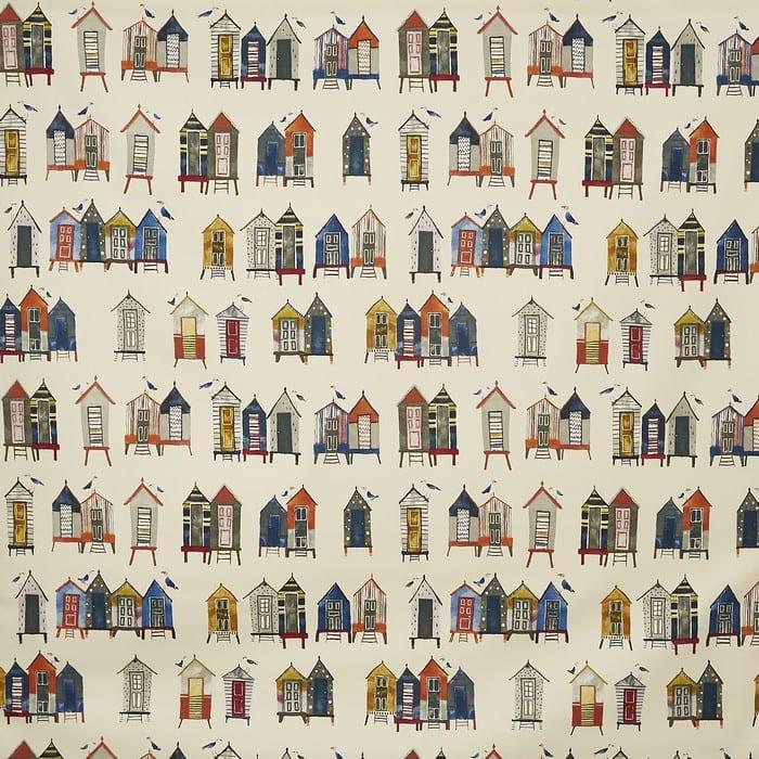 Beach Hut patterned fabric