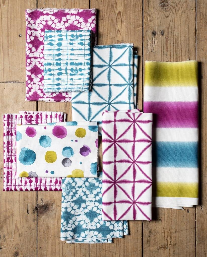 Colourful Batik fabric from Clarke & Clarke