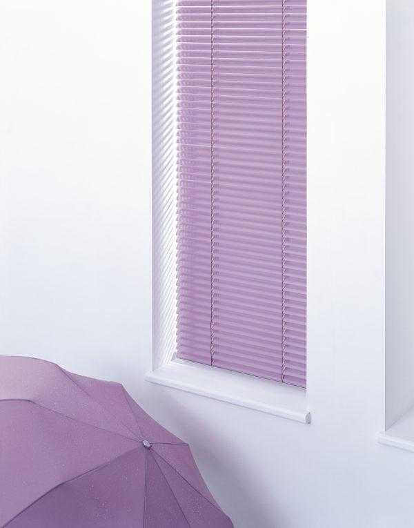 lilac venetian blind