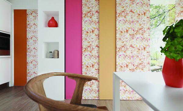 Tropicana Singapore Sling Carnival Fabric by Louvolite