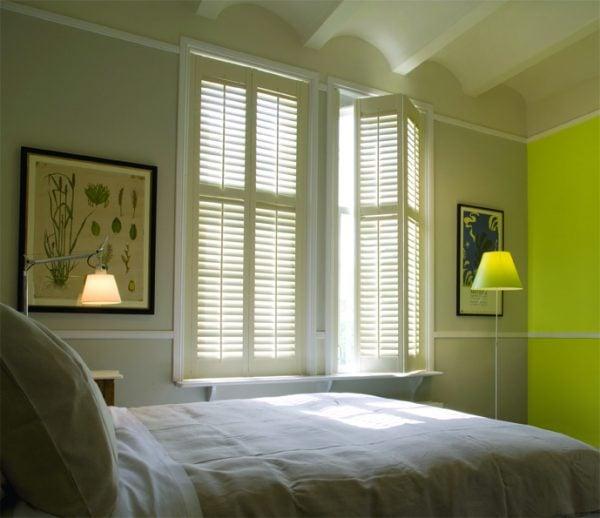 bedroom Plantation shutters