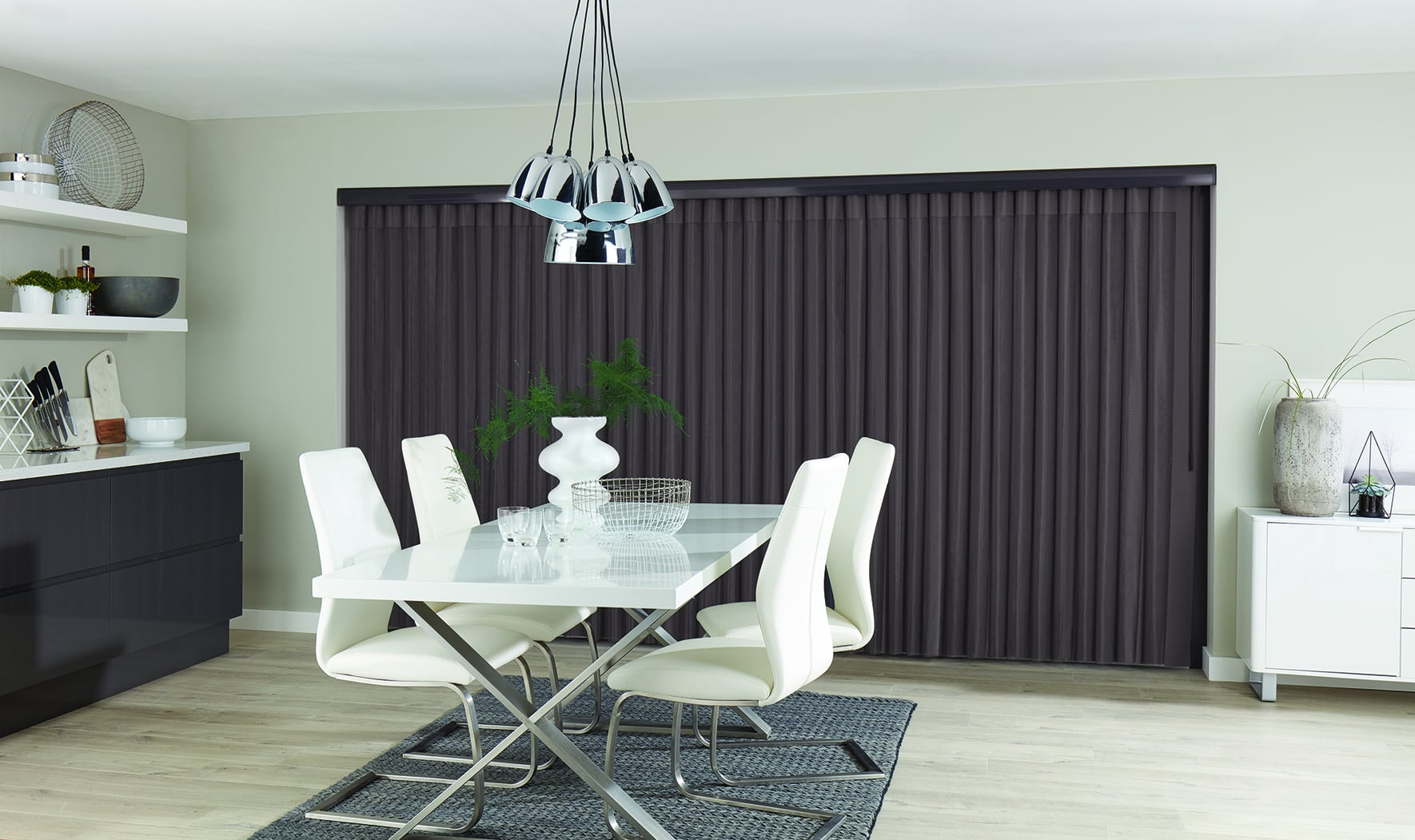 Allusion blinds in Pewter