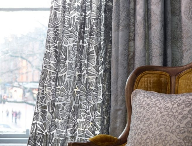 Handmade Curtains from Norwich Sunblinds. Fabric from the Voyage Alchemy range.