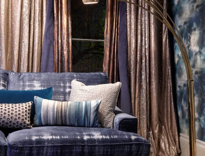 Voyage Alchemy curtain fabric for made to measure curtains from Norwich Sunblinds.