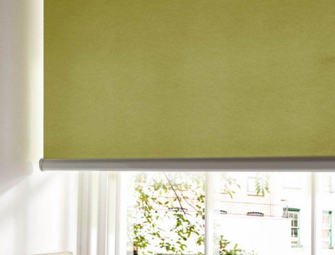 Atlantex Lime Bathroom Blind fabric from Style Studio