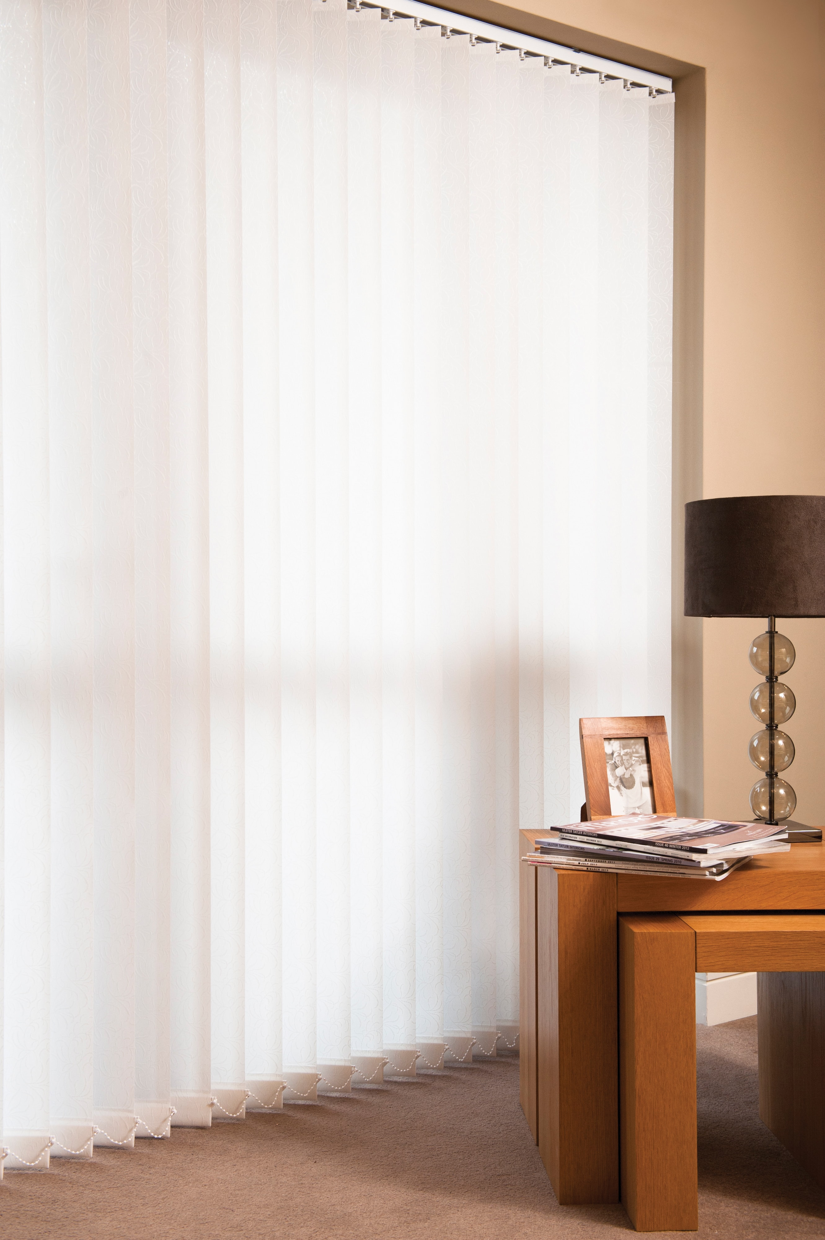 Bespoke vertical window blinds can be made to suit and