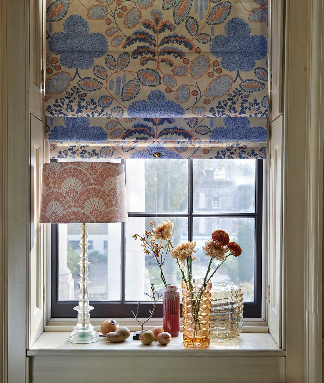 Roman blinds made from Bloomsbury design fabric - Blinds Norfolk - Norwich Sunblinds