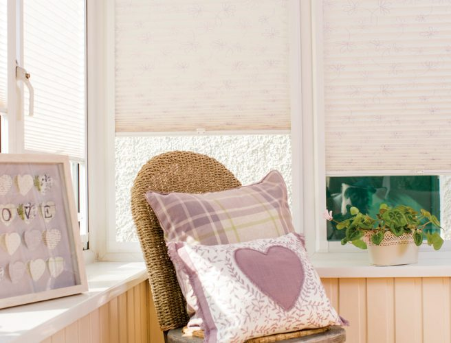 Blossom pleated blind fabric from RAirwin made to measue perfect fit blinds