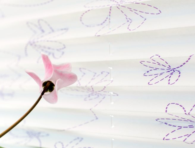 Blossom fabric by RAirwin made to measure by Norwich Sunblinds