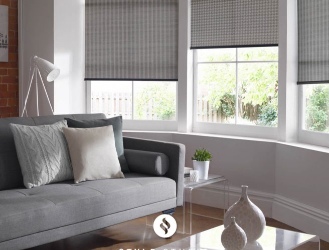 Bute and Iona blinds for the lounge