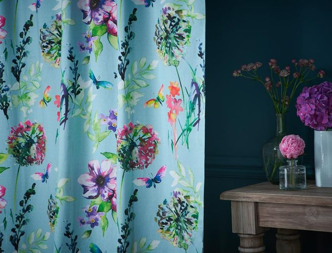 Floral pattern curtains