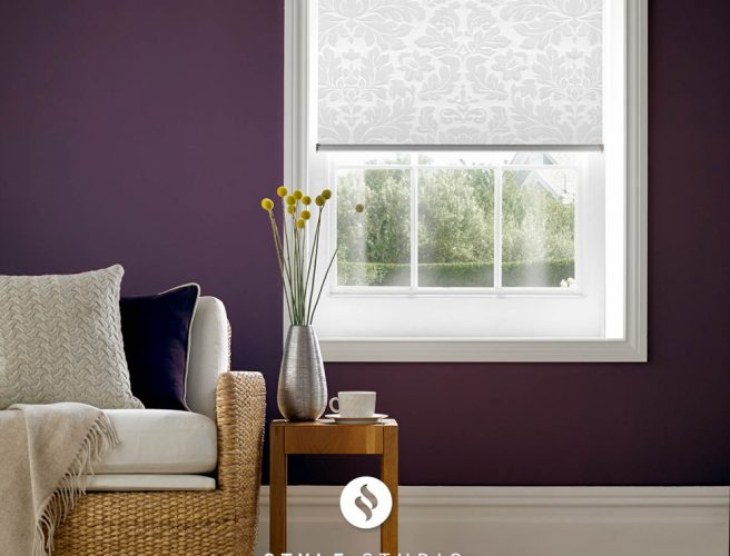 Clara Snowdrop roller blinds for the sitting room