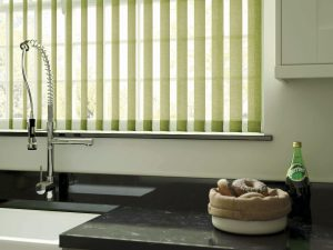 Vertical blinds for the kitchen