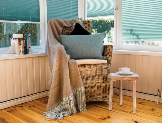 Crochet perfect fit pleated blinds for the conservatory or garden room