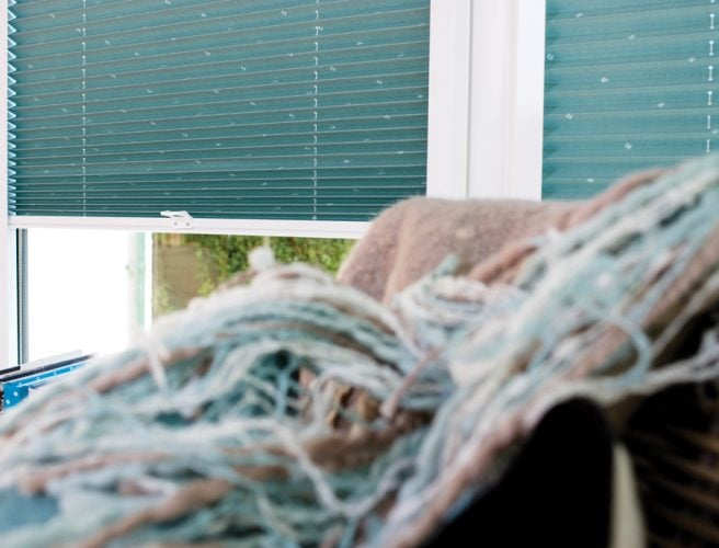 Crochet pleated perfect fit blinds