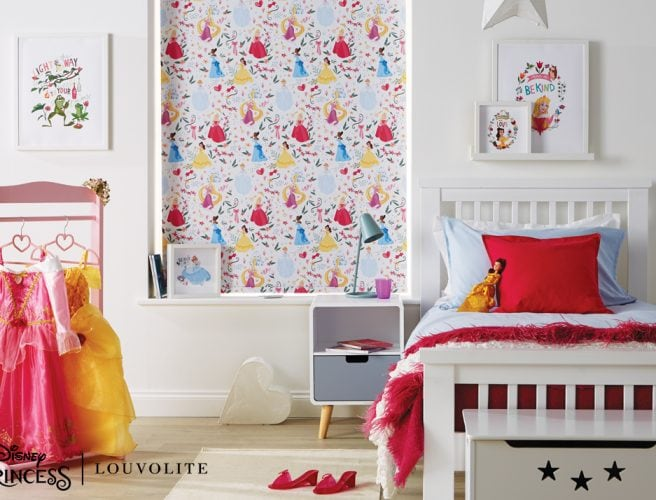 Disney Princess blind in child's bedroom - Blinds Norfolk - Norwich Sunblinds