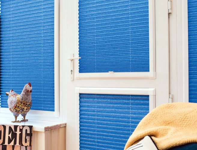 Perfect fit pleated blinds for the conservatory or garden room