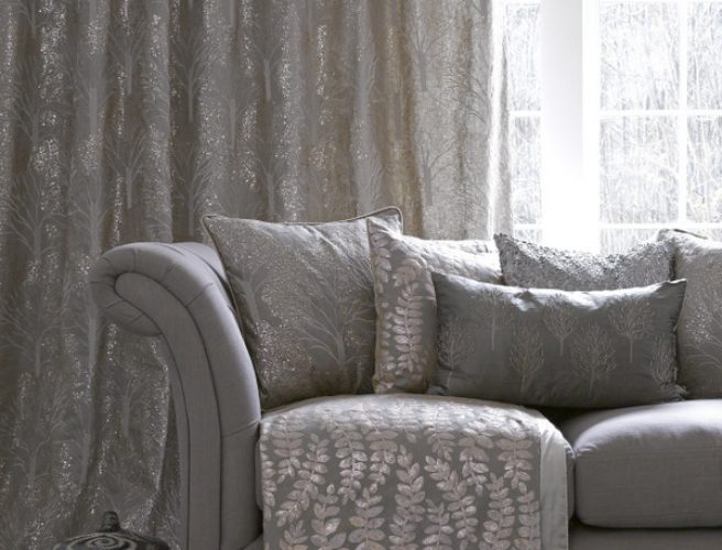 Enchanted Forest Couture collection of curtain fabric from Voyage for made to measure curtains