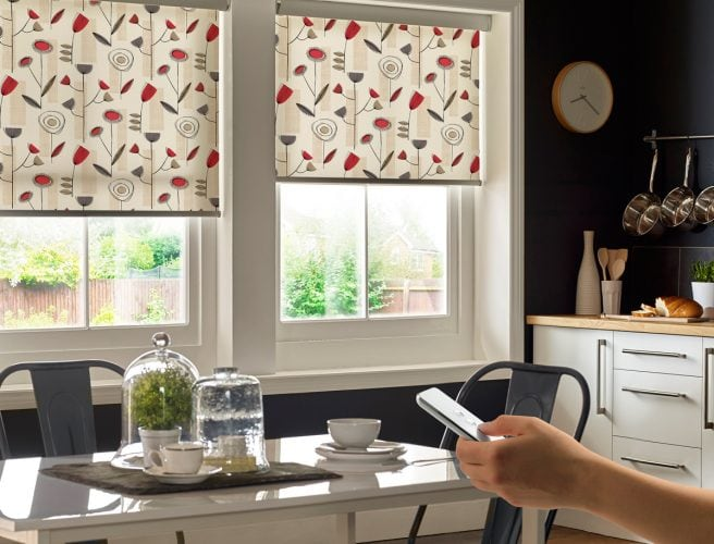 Motorised kitchen blinds - Blinds Norfolk - Norwich Sunblinds