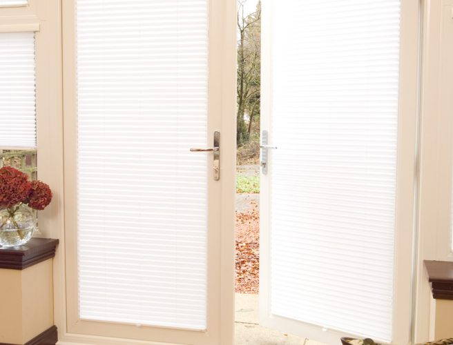 Pleated blinds for doors and windows
