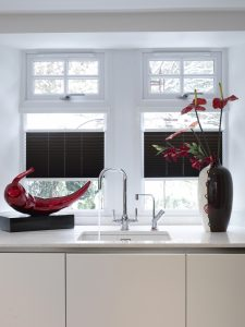 Pleated kitchen blinds