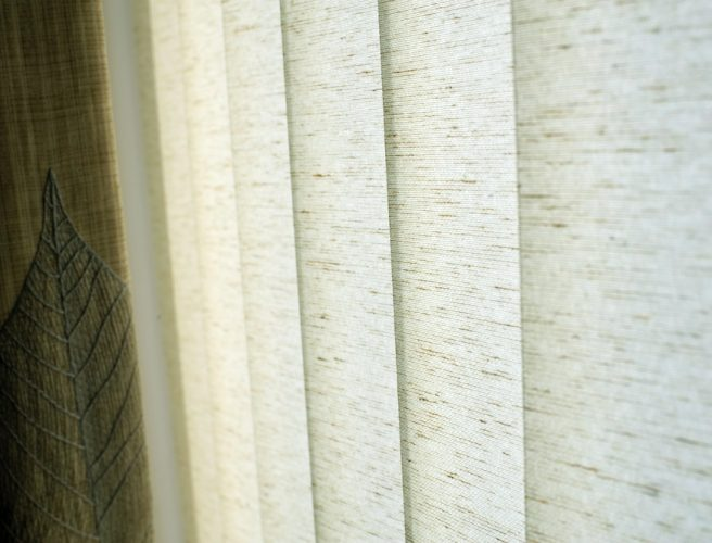 Flax fabric for vertical blinds