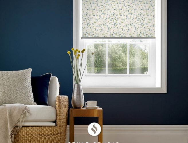 Flourish Spring sitting room roller blinds