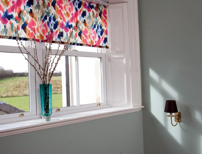 Brightly patterned Genesis fabric for roller blinds