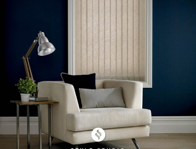 Eclipse vertical blinds for the lounge