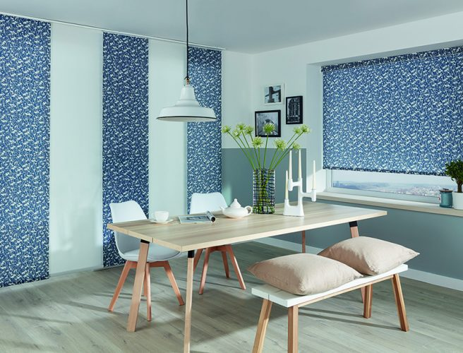 Panel blinds in Meadow Nightingale - Blinds Norfolk - Norwich Sunblinds