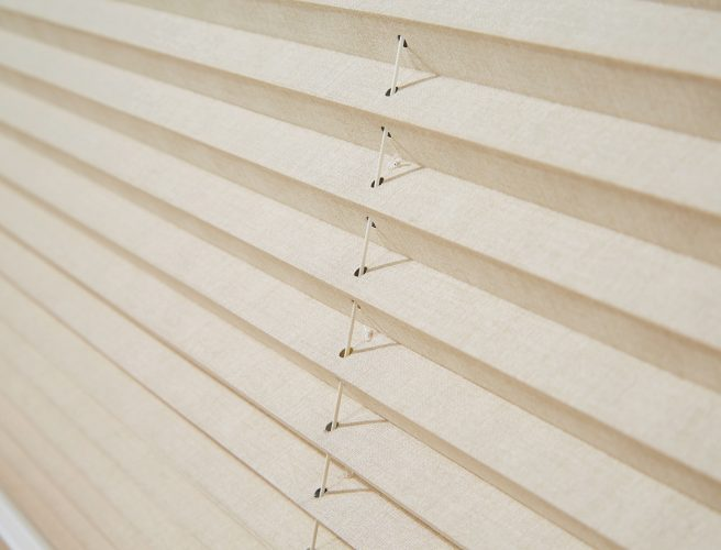 Pleated blinds Parchment Bamboo by Louvolite