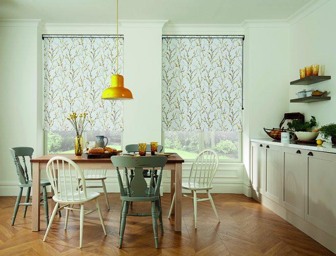 Willow Brazen Yellow roller blinds - Blinds Norfolk - Norwich Sunblinds