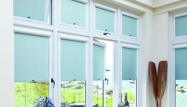 Mineral Verdigris colour Perfect Fit roller blind - Blinds Norfolk - Norwich Sunblinds