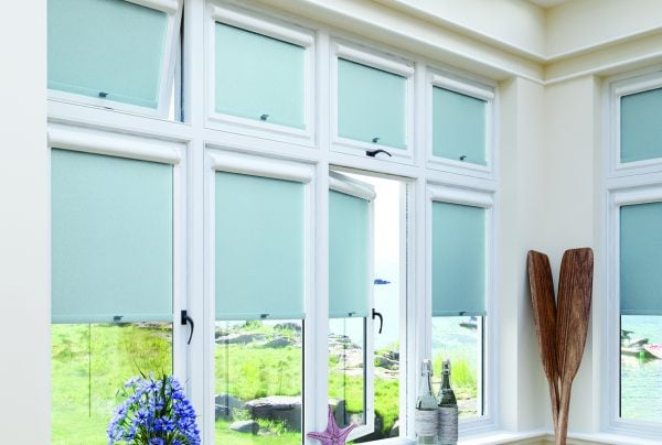 Mineral Verdigris colour Perfect Fit roller blind - Blinds Norfolk - Norwich Sunblinds