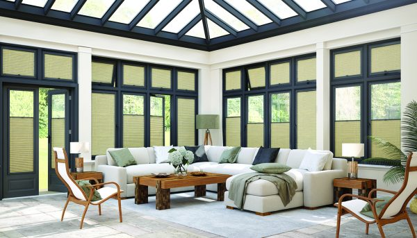 Perfect Fit Conservatory blinds fabric from Louvolite