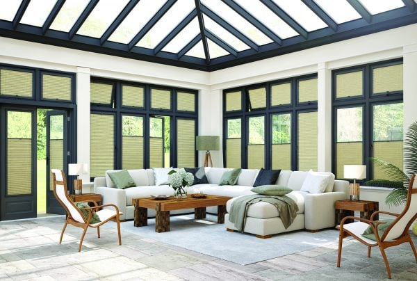 Anthracite Perfect Fit Conservatory blinds fabric - Blinds Norfolk - Norwich Sunblinds