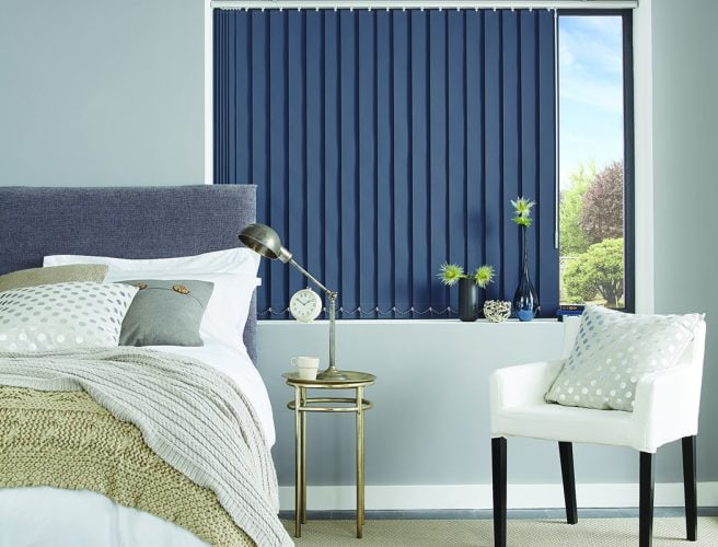 Vertical bedroom blinds: Louvolite 2017 collection
