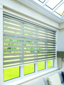 Vision blinds: Tuscany Mink design from Louvolite 2017 collection - Blinds Norfolk - Norwich Sunblinds