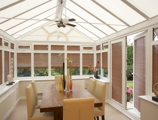 Wooden Conservatory Blinds.
