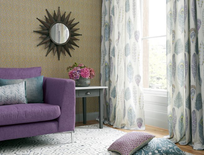 Myanmar curtain fabric from Voyage. Made to measure curtains Norfolk.